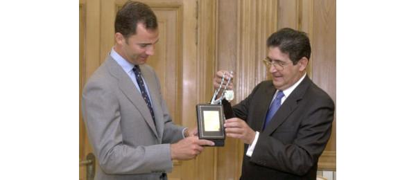 El Príncipe de Asturias recibe la Medalla de Oro de la Abogacía Andaluza