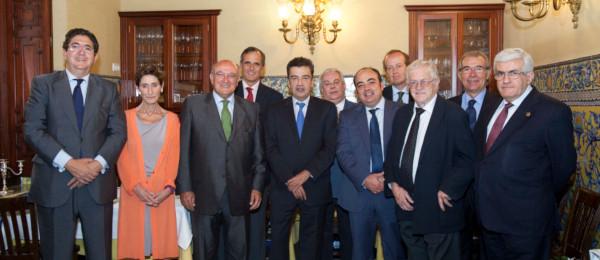 El Presidente del Consejo General de la Abogacía Española se reune con el Consejo Andaluz en Sevilla.