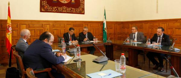 Reunión del Consejo Andaluz de Colegios de Abogados con el Presidente del Tribunal Superior de Justicia de Andalucía.