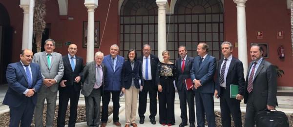 Reunión del Consejo Andaluz de Colegios de Abogados con la Consejera de Justicia.