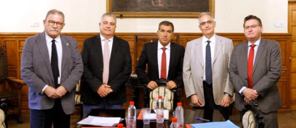 Reunión de constitución de la Comisión Mixta entre el Tribunal Superior de Justicia de Andalucía y el Consejo Andaluz de Colegios de Abogados.