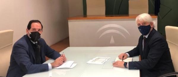 Primera reunión del nuevo presidente de Justicia Gratuita del CADECA con la Junta de Andalucía para mejorar el Turno de Oficio